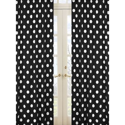Sweet Jojo Designs Hot Dot Cotton Rod Pocket Curtain Panel
