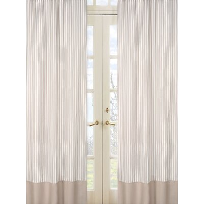 Sweet Jojo Designs Lamb Cotton Rod Pocket Curtain Panel