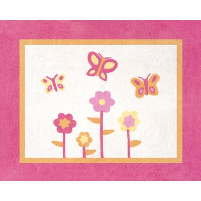 Sweet Jojo Designs Butterfly Pink and Orange Collection Floor Rug