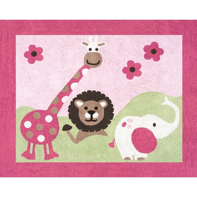 Sweet Jojo Designs Jungle Friends Collection Floor Rug