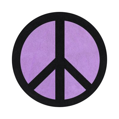 Sweet Jojo Designs Peace Purple Collection Floor Rug