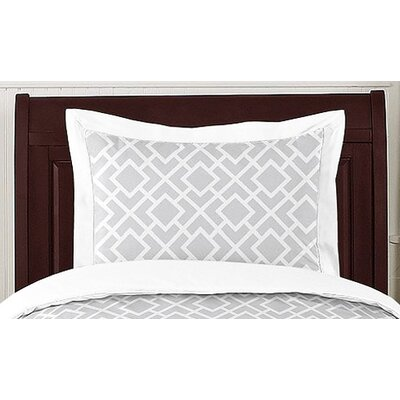 Sweet Jojo Designs Diamond Gray and White Collection Standard Pillow Sham