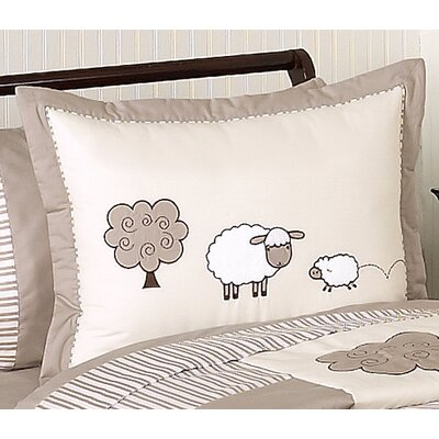 Sweet Jojo Designs Lamb Collection Standard Pillow Sham