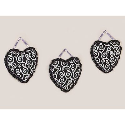 Sweet Jojo Designs Kaylee Collection Wall Hangings (Set of 3)