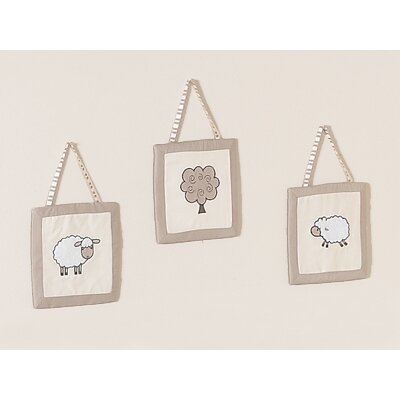 Sweet Jojo Designs Lamb Collection Wall Hangings 3 Piece Set