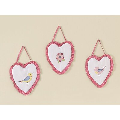 Sweet Jojo Designs Song Bird Collection Wall Hangings 3 Piece Set