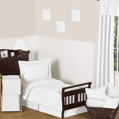 Sweet Jojo Designs White Diamond Toddler Bedding Collection