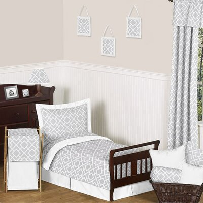 Gray and White Diamond Toddler Bedding Collection