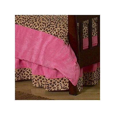 Sweet Jojo Designs Cheetah Pink Toddler Bed Skirt