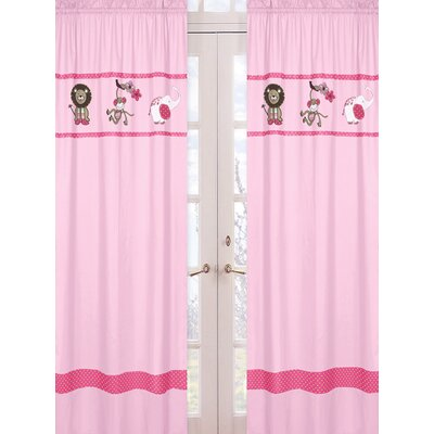 Sweet Jojo Designs Jungle Friends Curtain Panel Pair