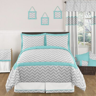 Zig zag turquoise and gray bedding collection wayfair for Zig zag bedroom ideas