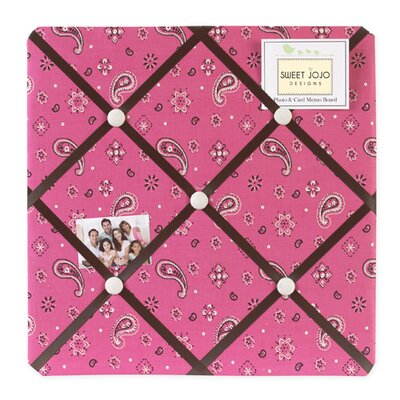 Sweet Jojo Designs Cowgirl Collection Memo Board  - Bandana Print