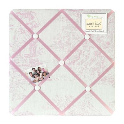 Sweet Jojo Designs Pink Toile Collection Memo Board