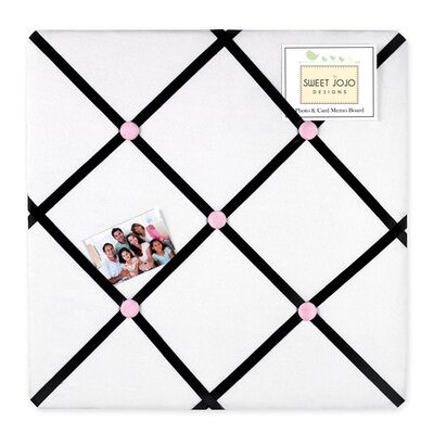 Princess Black, White and Pink Collection Memo Board