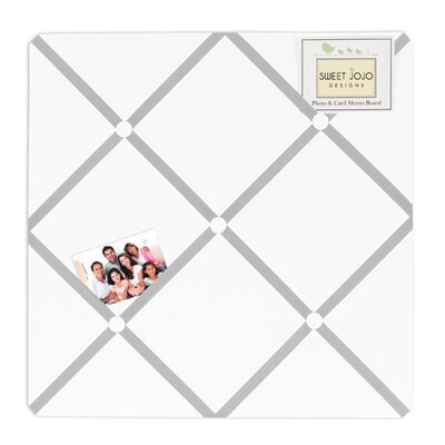Sweet Jojo Designs Diamond Gray and White Collection Memo Board