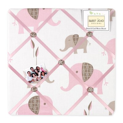 Sweet Jojo Designs Elephant Pink Collection Memo Board