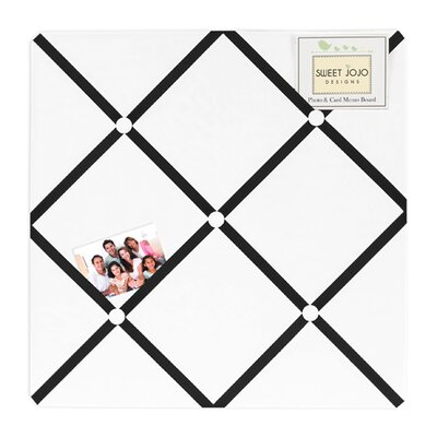 Sweet Jojo Designs Hotel White and Black Collection Memo Board