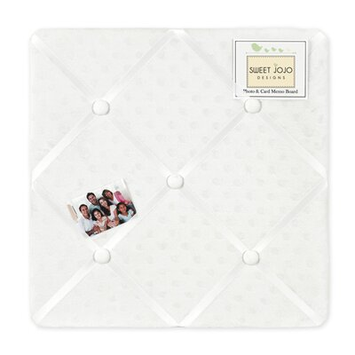 Minky Dot White Collection Memo Board