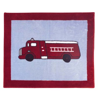 Sweet Jojo Designs Fire Truck Collection Floor Rug