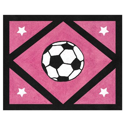 <strong>Sweet Jojo Designs</strong> Soccer Pink Collection Floor Rug