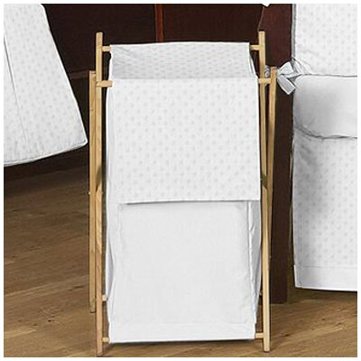 Minky Dot White Laundry Hamper