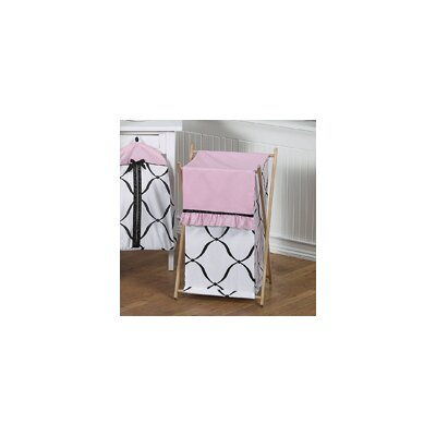 Sweet Jojo Designs Princess Black and White Laundry Hamper
