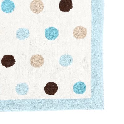 Sweet Jojo Designs Mod Dots Blue Collection Floor Rug