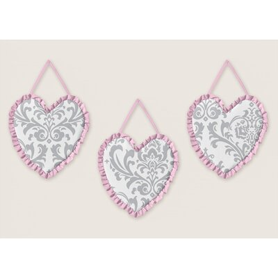 Pink and Gray Elizabeth Wall Hangings