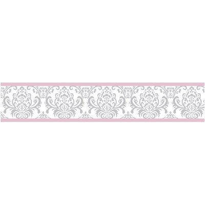 Pink and Gray Elizabeth Wall Paper Border