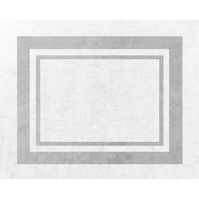 Sweet Jojo Designs Hotel White and Gray Floor Rug