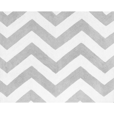 Sweet Jojo Designs Zig Zag Turquoise and Gray Floor Rug
