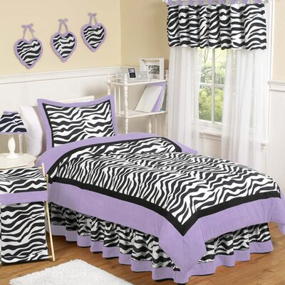 Sweet Jojo Designs Zebra Purple Collection Twin Bedding Set