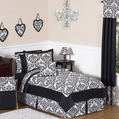 Isabella Black and White Collection 4pc Twin Bedding Set