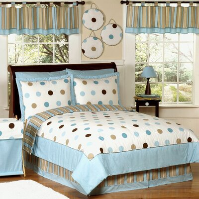 Mod Dots Blue Kid Bedding Collection