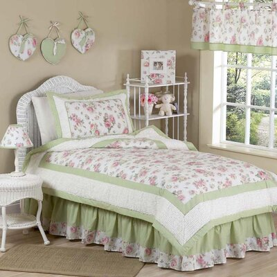 "Sweet Jojo Designs Riley""s Roses Kid Twin Bedding Collection"