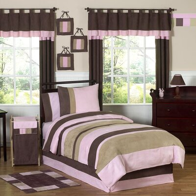 Sweet Jojo Designs Soho Pink and Brown Kid Bedding Collection