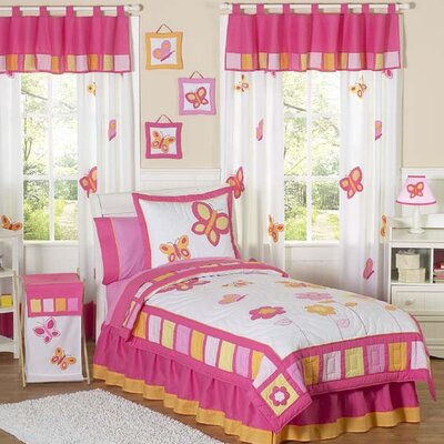 Butterfly Pink and Orange Kid Bedding Collection
