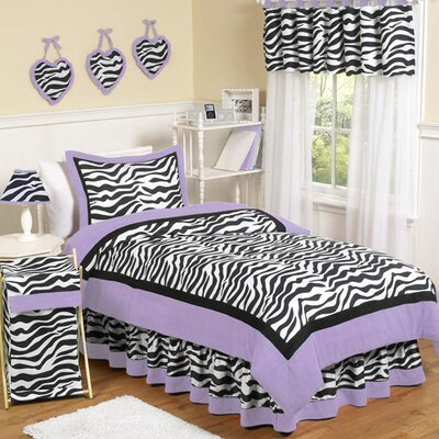 Sweet Jojo Designs Zebra Purple Kid Bedding Collection