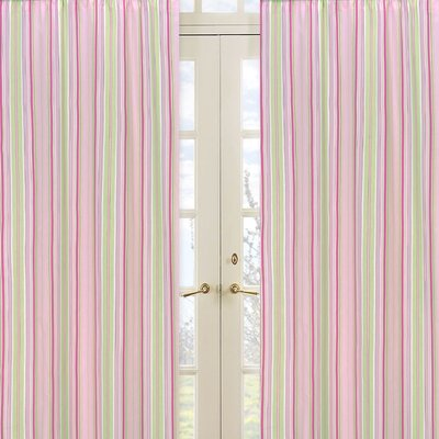 Sweet Jojo Designs Jungle Friends Stripe Print Curtain Panel Pair