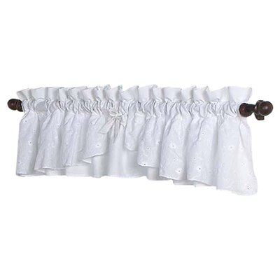 Sweet Jojo Designs White Cotton Curtain Valance