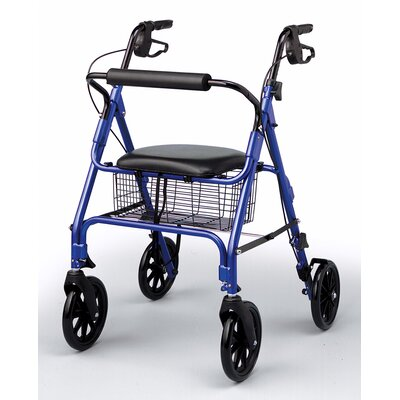 "Medline Folding Rollator with 8"" Wheels"