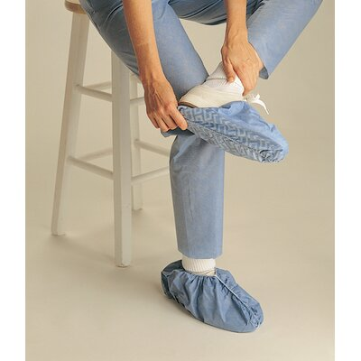 Medline Non-Skid Polypropylene Shoe Cover in Blue
