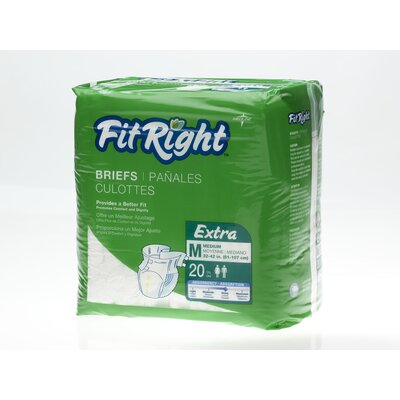 Medline FitRight Extra Briefs (Pack of 80)