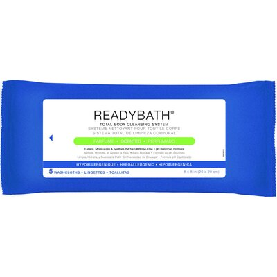 ReadyBath Total Body Cleaning Washcloths (Pack of 30)