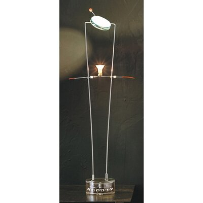 Lucifero Illuminazione Arioch One Light Table Lamp in Chrome