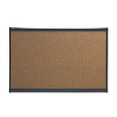Quartet® Prestige Graphite-Blend Cork Bulletin Board