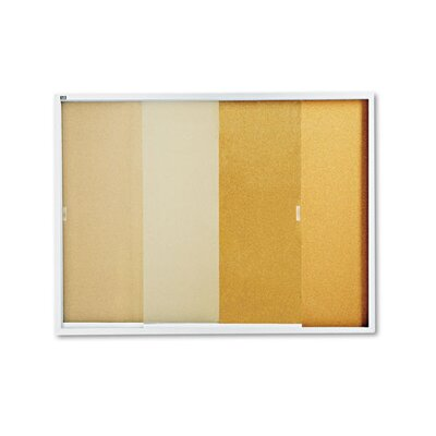 Quartet® Enclosed Cork over Fiberboard Bulletin Board with Aluminum Frame