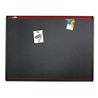 Quartet® Prestige + Magnetic Fabric Bulletin Board with Mahogany Frame