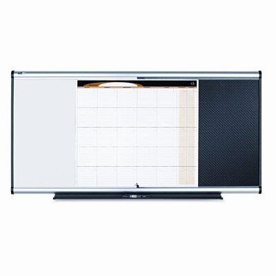 Quartet® 3-In-1 Combo Dry Erase/Calendar 2' x 4' Bulletin Board