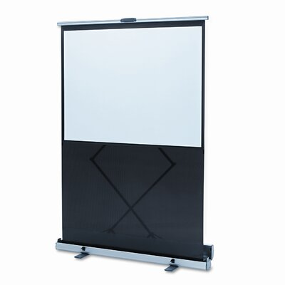 Quartet® Euro Portable Cinema Screen with Black Carrying Case, 64 x 48